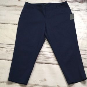 Eloquii Cropped Pants Capri Navy Blue New 22 Short